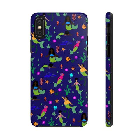 Melanin Mermaid Tough Phone Cases