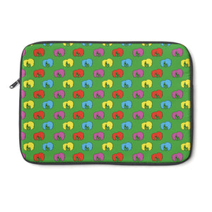 Green Full Afro Pattern Laptop Sleeve