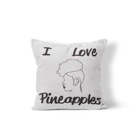 """I Love Pineaples"" 16x16 inch Decorative Pillow, Throw Pillow,"