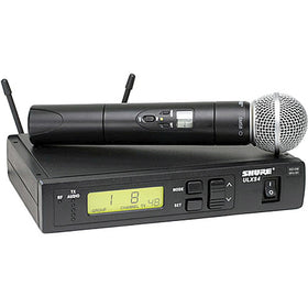 ULXS24/58 Wireless System Includes ULX2/58 Handheld Transmitter with SM58 Microphone