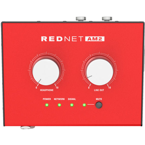 Focusrite RedNet AM2 Stereo Headphone/Line Out Dante Interface with PoE