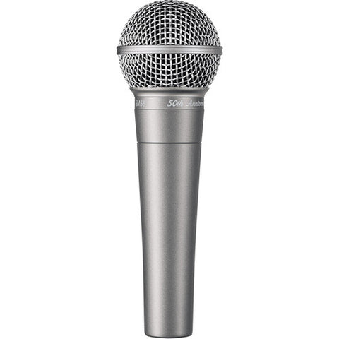 Shure SM58-50A SM58® 50th Anniversary Edition cardiod dynamic microphone with silver finish