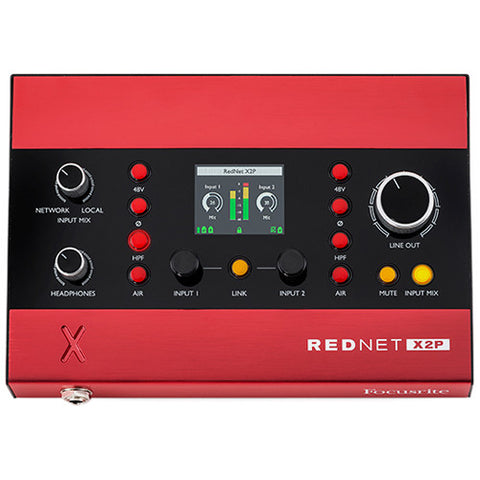 Focusrite RedNet X2P 2 Channel 24/96 Mic Pre, Headphone/Line Out Dante I/O Interface with PoE
