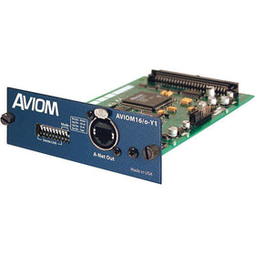 Aviom AVIOM16/o-Y1 quarter blue left