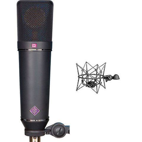 Neumann U 87 Ai mt Set Z (Matt Black) front set view