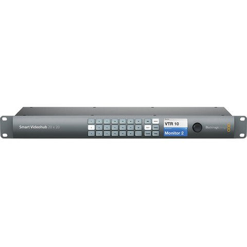 Blackmagic Design BMD-VHUBSMART6G2020 Smart Videohub 20x20 front view