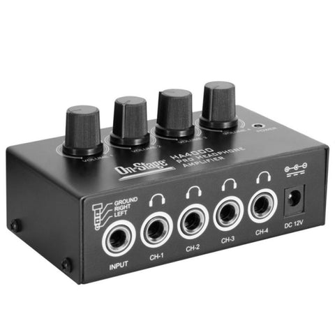 OnStage HA4000 4-Channel Headphone Amp