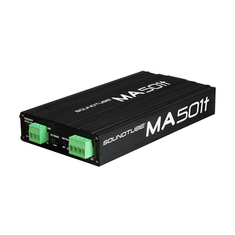 MA501T SoundTube Low Voltage Amplifier in Black quarter left