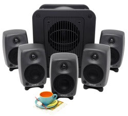 Genelec 8020.LSE™Espresso 5.1 System all set view