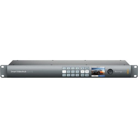 Blackmagic Design BMD-VHUBSMART6G1212 Smart Videohub 12x12 front top view