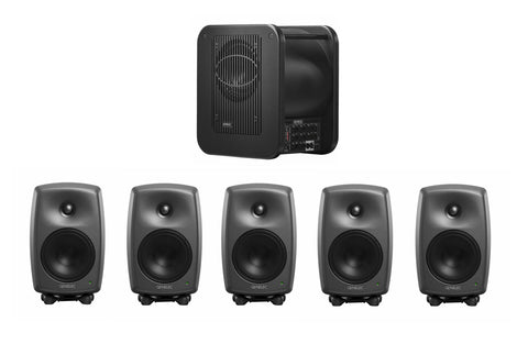Genelec 8030.LSE™Power Pak Plus 5.1 System - Five 8030CPs & one 7360 subwoofer. Producer Finish. Studio Monitor system
