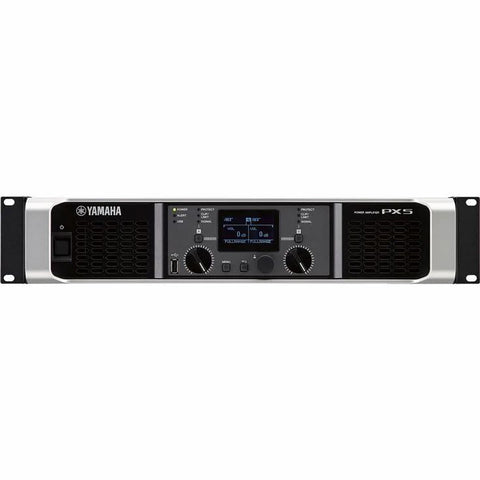 Yamaha PX5 2 Channel Live Sound Power  Amplifier  800W X 2 Front View