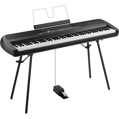 KORG SP280BK (Black) quarter right