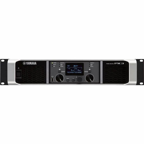 The Yamaha PX3 Two channel Live Sound Amplifier with DSP 500w x 2 Front View