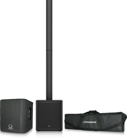 Turbosound iP2000 BUNDLE Turbosound 1,000 Watt Powered Column Loudspeaker with a 12'' Subwoofer