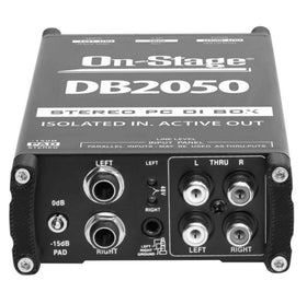 OnStage DB2050 Active Stereo Multi-Media DI Box