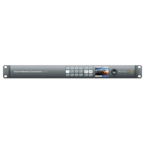 Blackmagic Design BMD-VHUBSMTCS6G1212 Smart Videohub CleanSwitch 12x12 front view