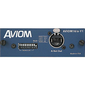 Aviom AVIOM16/o-Y1 front blue view