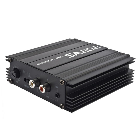 SA202-RDT SoundTube Class AB Mini Amplifier quarter left