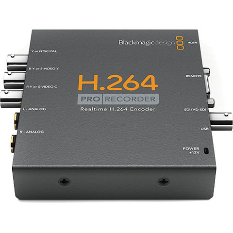 Blackmagic Design BMD-VIDPROREC H.264 Pro Recorder front top view