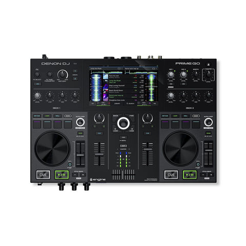 "Denon PRIME GO, 2-Deck Rechargeable Smart DJ Console with 7"" Touchscreen"
