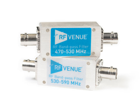 RF VENUE  Band-pass Filter 530-590 MHz on bottom