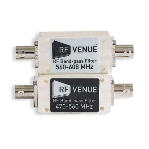 RF VENUE Band-pass Filter 470-560 MHz on front