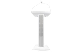 Denon Professional Lectern Active White, Amplified Speaker Lectern