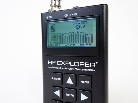 RF Explorer Pro Audio Edition Spectrum Analyzer zoomed in