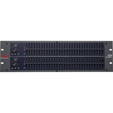 DBX 12 Series - Dual 31 Band Graphic Equalizer 1231