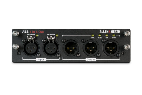Allen Heath M-DL-AES4I6O-A AES3 on front