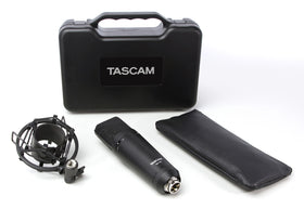 Tascam TM-180 flight case, pouch and shock mount