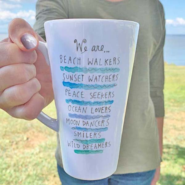 Beach Walker Latte Mug
