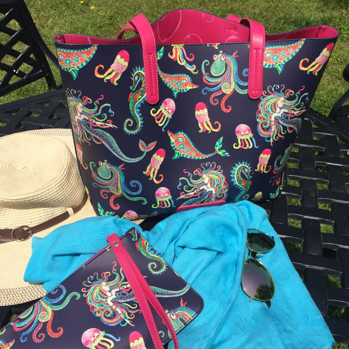 Boho Mermaid Leatherette Tote