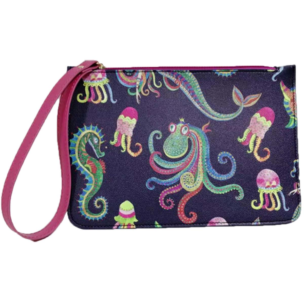 Boho Mermaid Leatherette Wristlet