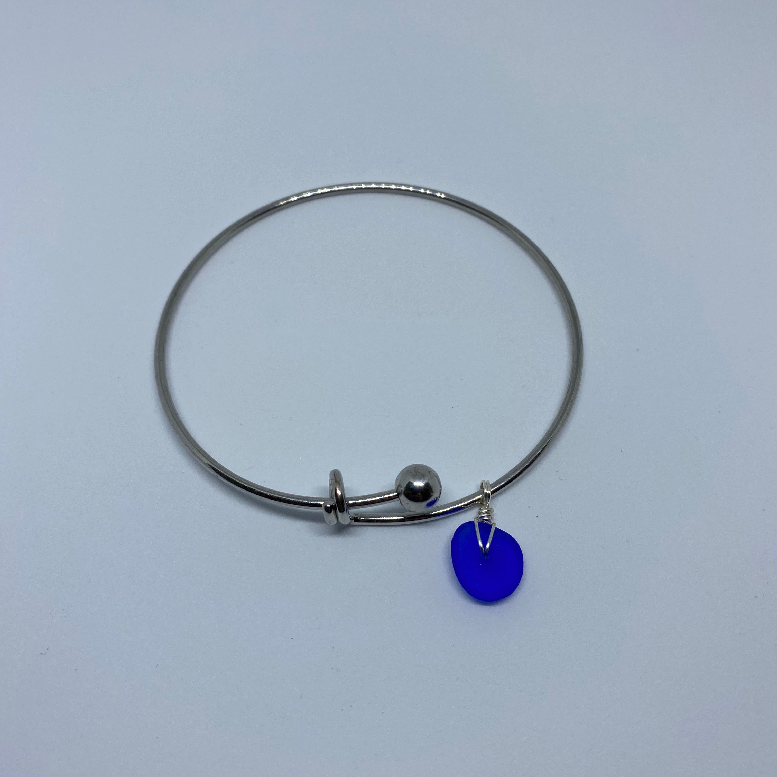 Cobalt Blue Sea Glass Add-A-Charm