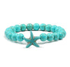 Natural Stone Starfish Bracelet