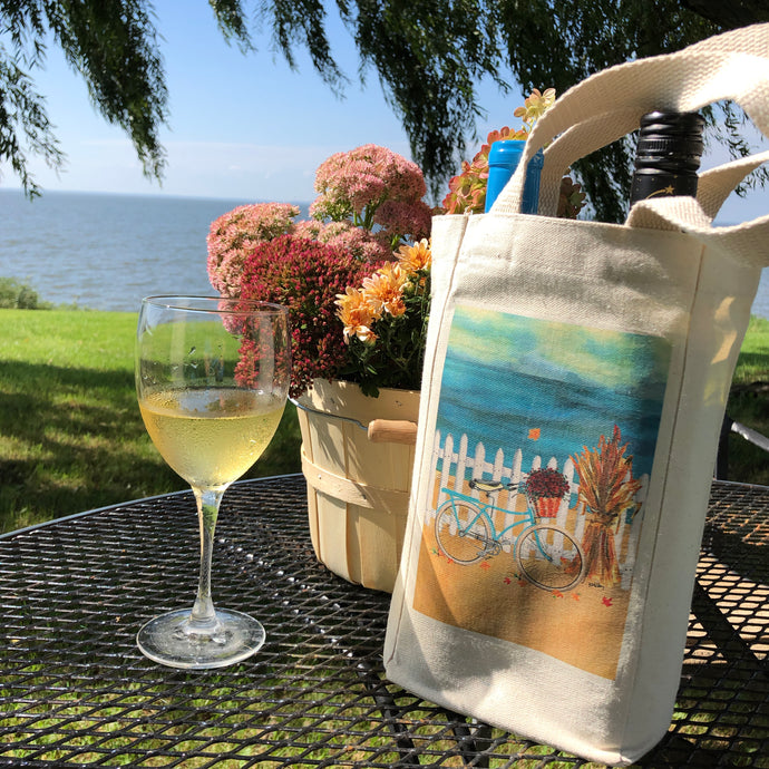 Double Wine Bottle Tote Bag