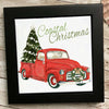 Red Truck Coastal Christmas Tile Trivet