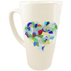 Latte Mug- Sea Glass Heart
