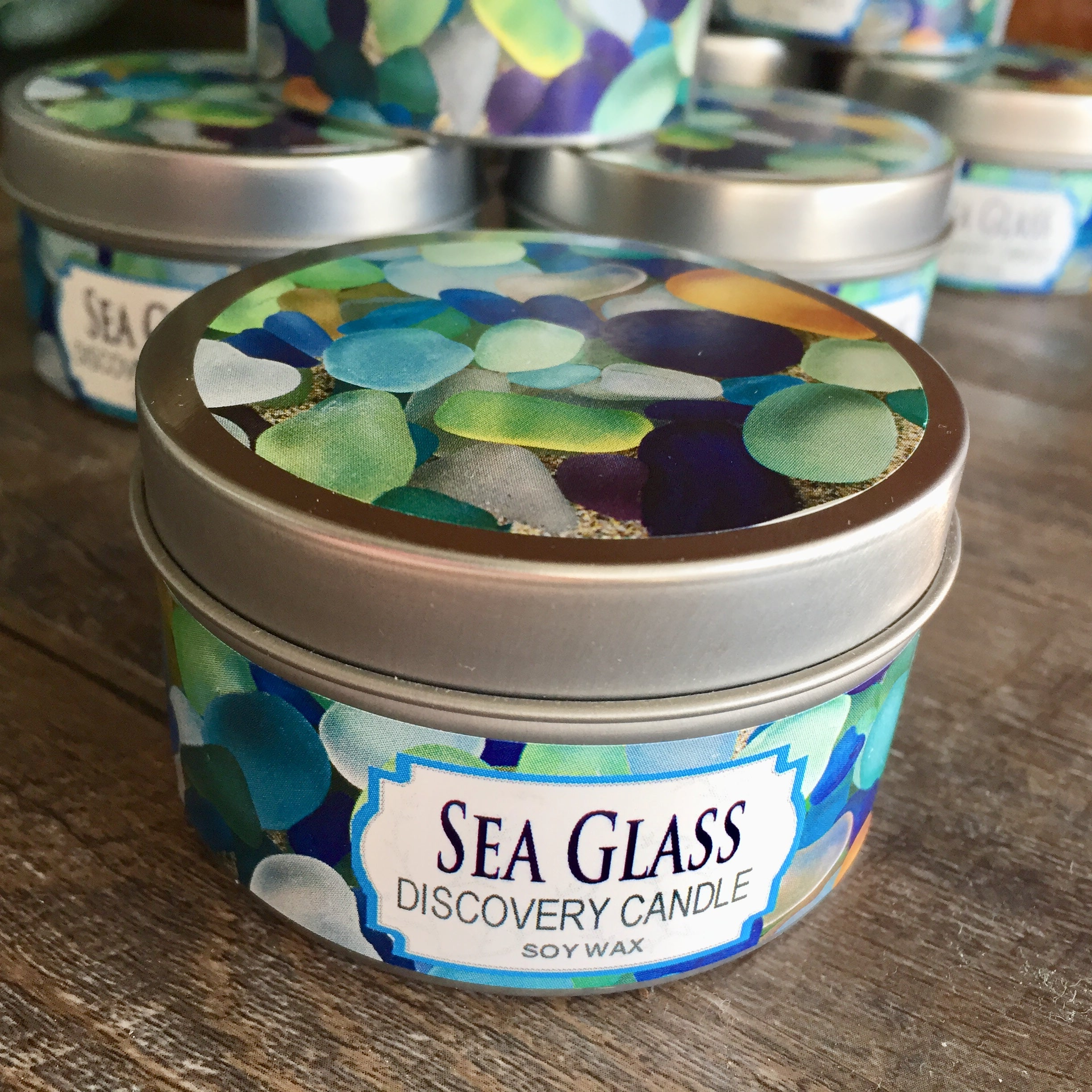 Sea Glass Discovery Candle Tin