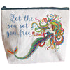 Let the Sea Set You Free Zipper Pouch