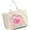 Pink Camo Crab XL Zipper Tote