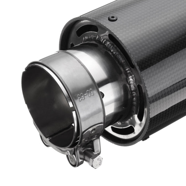 Omega Tuning DELTA Carbon Fiber Exhaust Tip PAIR [Silver] - Omega Tuning