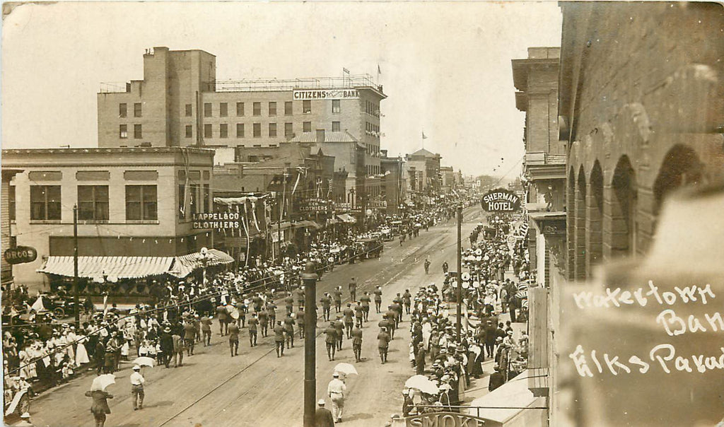 Alberdeen - SD = Watertown Band - Elks Parade - RPPC - 1911