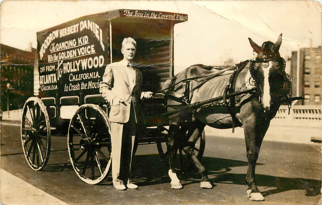 Atlanta Georgia - Dancing Kid - Woodrow Herbert Daniel - Horse Wagon to Hollywood - RPPC