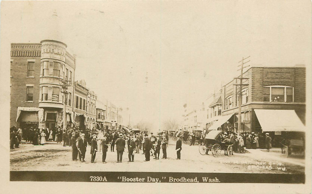 Brodhead - Wisconsin - WI - BOOSTER DAY - 1911 RPPC