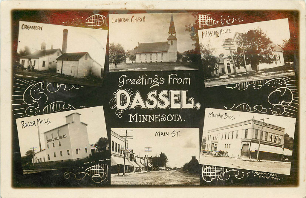 Dassel - Minnesota - MN - Real Photograph MULTI-View - 1909