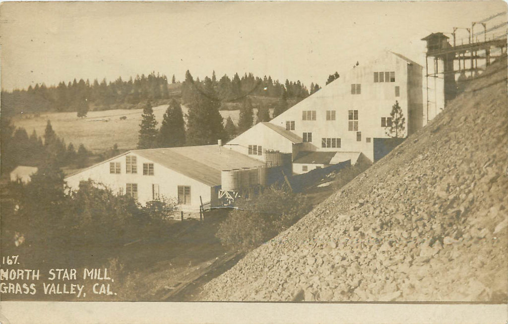 Grass Valley - California - North Star Mill - Real Photograph - Original Postcard 1911