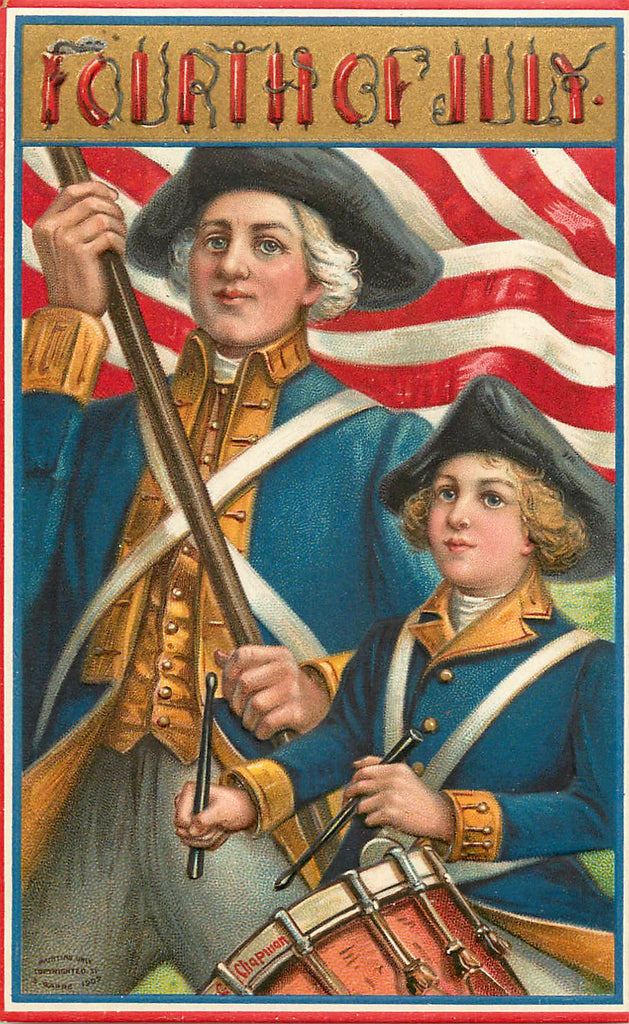 July 4th - Patriotic Holiday - S. Garre - Drummer Boy - Original Postcard